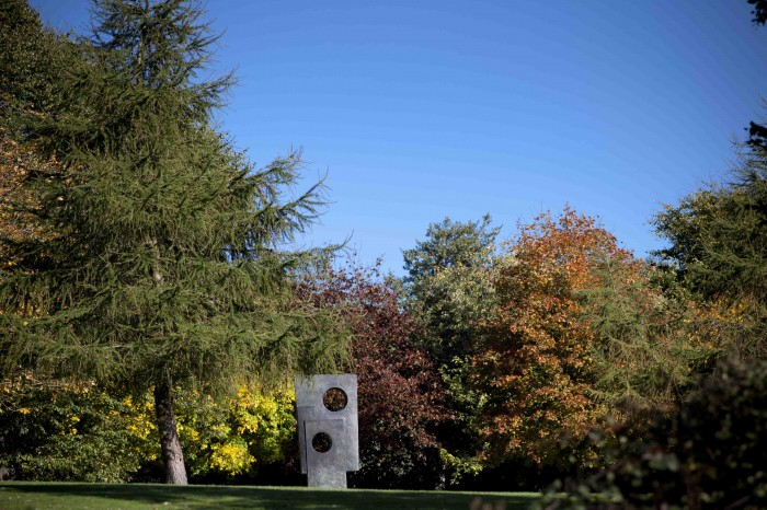 Yorkshire Sculpture Park, showing Barbara Hepworth's 'Squares with Two Circles', 1963.